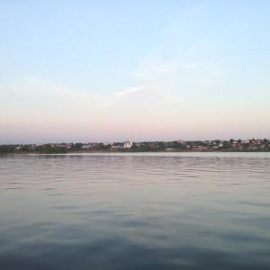 Вид на Чистополь с катера