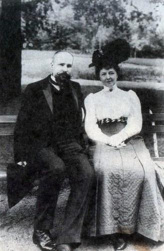 П.Столыпин с супругой О. Нейдгардт, владелицей поместьем в Чистопольском уезде. 1906 г