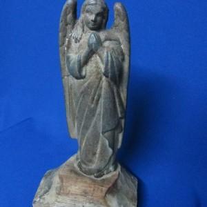 Статуэтка Ангел. Металлическая на деревянной подставке сер.XIX в