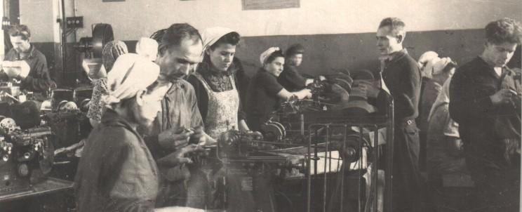 Механический цех. Платино-мостовая мастерская.Мастерская цеха №13. 1945-1946. Часовой завод. Чистополь.