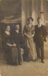 Анна Андреевна Дарьина с мужем Иваном Дарьиным и неизвестная пара.