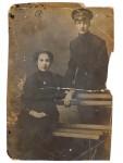 Анна Андреевна Дарьина с братом Александром Масловым. 1912–1913 гг.
