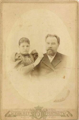 Николай Герасимович Купцов с дочерью Надеждой
